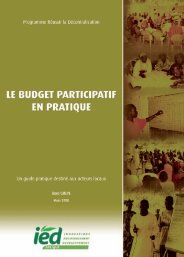 Budget Participatif en Pratique - IED afrique
