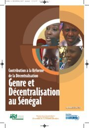 Genre et Decentralisation au Senegal - Gender Responsive Budgeting