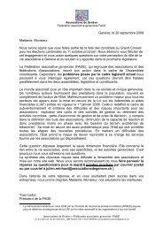Genève, le 29 septembre 2009 Madame, Monsieur, Nous avons ...