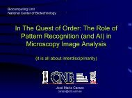 The role of pattern recognition (and AI) in microscopy image ... - CUNY