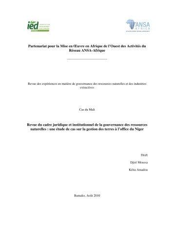 Revue Pays Mali - IED afrique