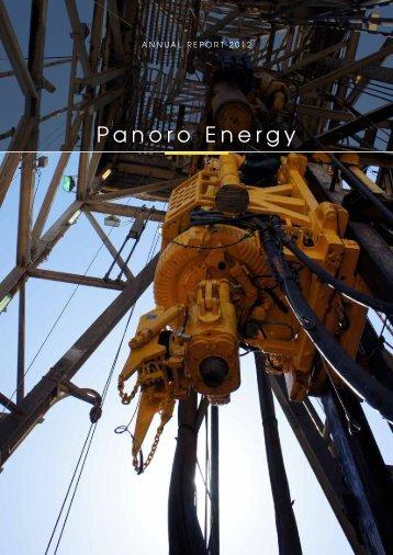 Annual Report 2012 - Panoro Energy