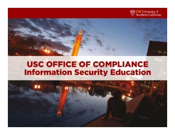 Personal information - USC Office of Compliance