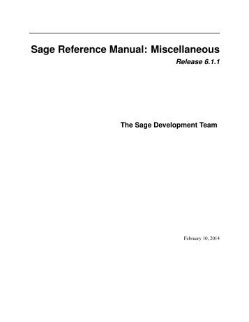 Sage Reference Manual: Miscellaneous - Mirrors