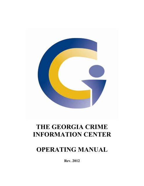 the georgia crime information center operating manual - GBI LMS