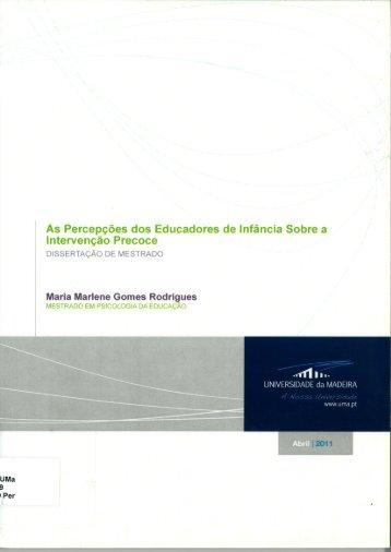 Maria Marlene Gomes Rodrigues - DigitUMa - Universidade da ...