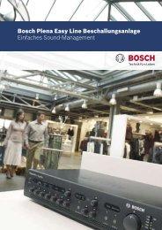 Bosch Plena Easy Line Beschallungsanlage ... - Deininger Gmbh