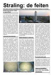 Lees de wetenschapsfolder voor een goed overzicht. - StopUMTS.nl