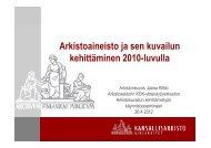 Arkistoaineisto ja sen kuvailun kehittäminen 2010 ... - Arkistolaitos