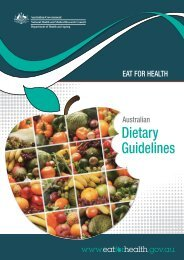 Australian Dietary Guidelines - National Health and Medical ...