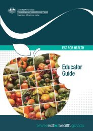 Australian Guide to Healthy Eating - Eat For Health