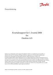 Kvartalsrapport for 1. kvartal 2008 for Danfoss A/S
