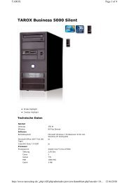 TAROX Business 5000 Silent - CNET Content Solutions