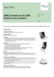 AMILO Notebook Sa 3650 Express your passion