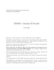 Projekt - Institut for Matematik og Datalogi - Syddansk Universitet