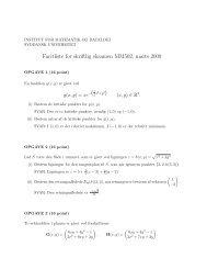 Eksamensopgaver, marts 2009, med facitliste - Institut for Matematik ...