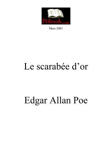 Le scarabée d«or Edgar Allan Poe - Pitbook.com