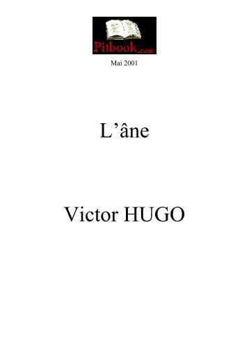 L«âne Victor HUGO - Pitbook.com