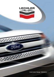 Lechler - Ford Color Range 1992-2012 Refinish - Smart Express