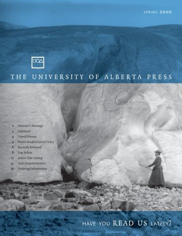 catalogue 4.indd - the University of Alberta Press
