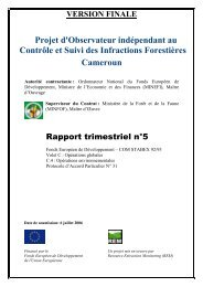 Projet d'Observateur indépendant au Contrôle et Suivi ... - FSC Watch