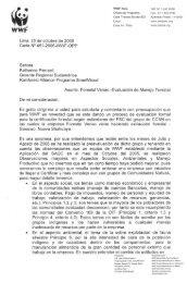 WWF Perú Telf: s1 1 44o esse Oficina de Programa ... - FSC Watch
