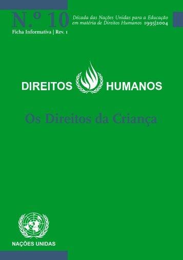 10: Os Direitos da Criança - Direitos Humanos - Gabinete de ...
