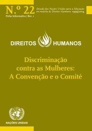 Discriminação contra as Mulheres - Direitos Humanos - Gabinete de ...