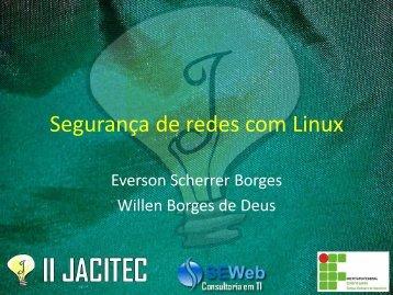 Segurança de redes com Linux - Ifes