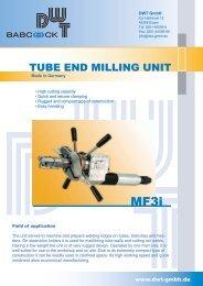 TUBE END MILLING UNIT - DWT Gmbh