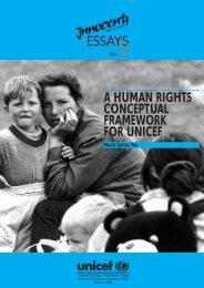 essays a human rights conceptual framework for ... - Direitos Humanos