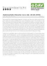 von Miriam Walker als PDF - DAV Sektion Speyer