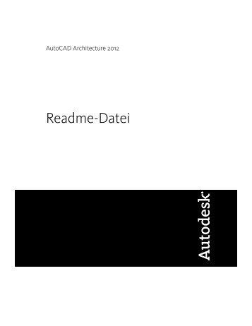 AutoCAD Architecture 2012 Readme - Exchange - Autodesk