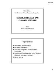 Gender, Kesehatan dan Pelayanan Kesehatan.pdf - KMPK