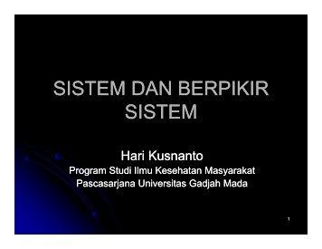 MK. Sesi 4, 5_C - KMPK - Universitas Gadjah Mada