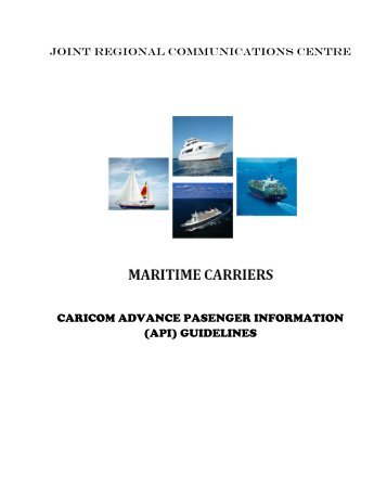 caricom advance pasenger information (api) guidelines - Goddards ...