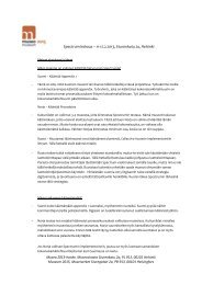 Spectrum kokouksen pöytäkirja 11-12.2.2013 - Museovirasto