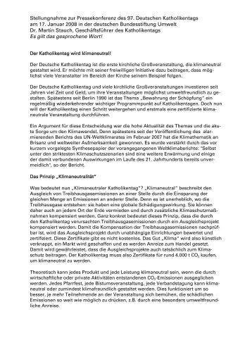 [ Stellungnahme Dr. Martin Stauch ] (PDF, 33 KB) - Katholikentag ...