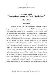 Traveling Apart: Women's Empowerment and Public Policy in Iraq.