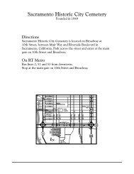 Sacramento Historic City Cemetery - Old City Cemetery Committee