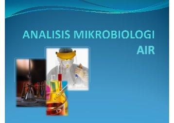 Metode Mikrobiologis Untuk Analisa Air