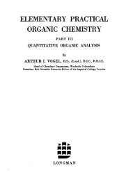 Quantitative Organic Analysis
