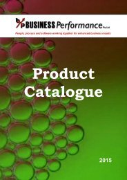 Download our latest Product Catalogue - Business Performance