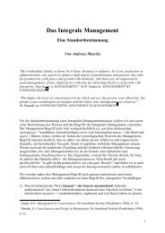 Das Integrale Management - Michaelegli.ch