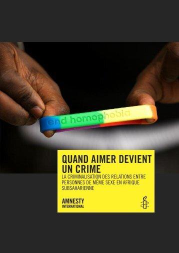 Quand aimer devient un crime - Amnesty International