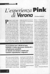 L'esperienza Pink di Verona - Nicoletta Poidimani
