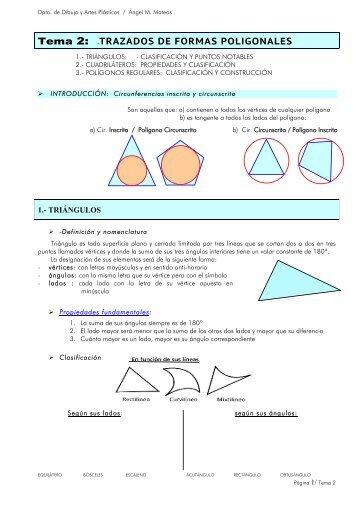 Tema 2.- Trazados de Formas Poligonales