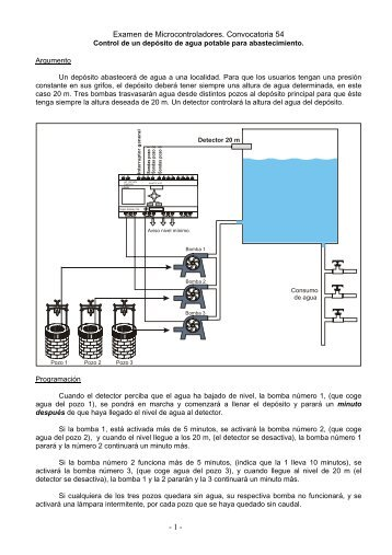 Control de un depósito de agua potable