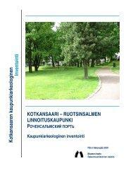 Kotkansaari kaupunkiark. inven - Museovirasto