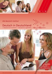 Deutsch in Deutschland - did Deutsch-Institut
